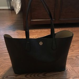 Tory Burch Perry Tote Black/Gold